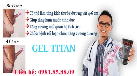 xuất xứ gel titan ở đâu, gel titan giá bao nhiêu và có tác hại không