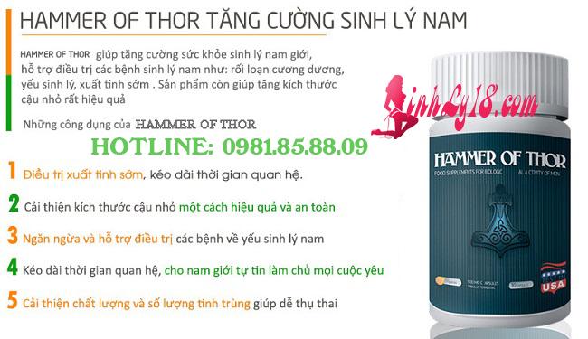 Hammer of thor tăng cường sinh lý nam giới
