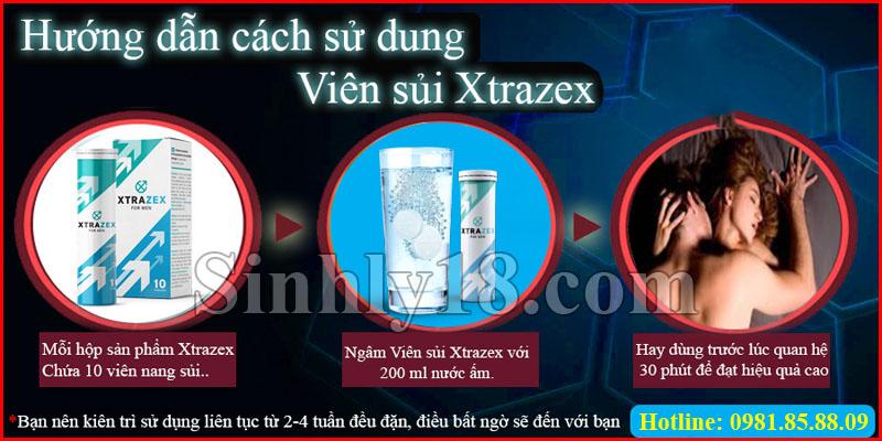 cách sử dụng viên sủi Xtrazex