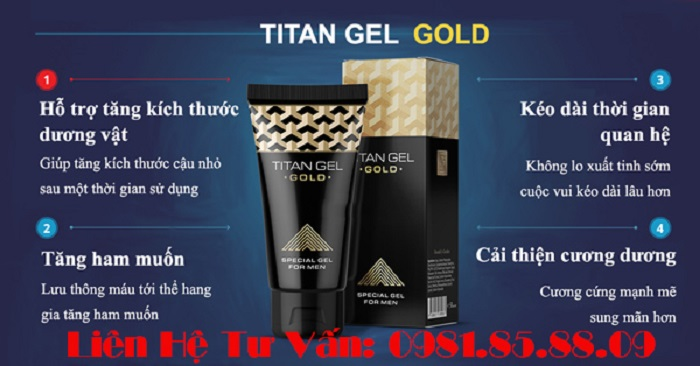 Gel titan gold tăng kích thước dương vật có thật không