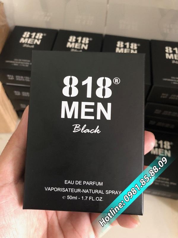 nước hoa kích dục 818 men black cực mạnh