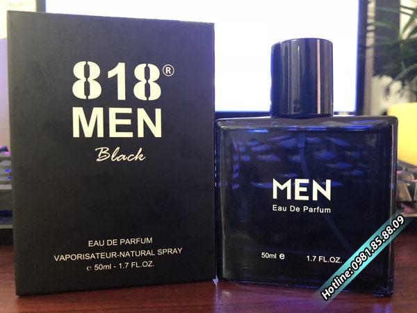 nước hoa kích dục 818 men black
