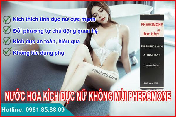 Nước hoa kích dục nữ không mùi tỉnh Bình Định